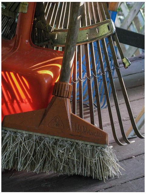 Old Broom and Rake