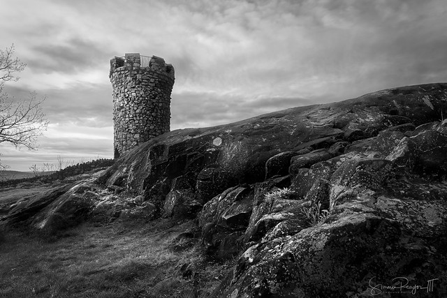 Crags and Castle B/W