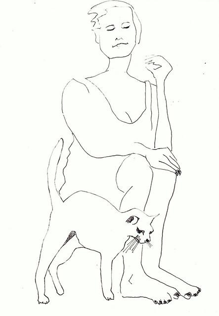Femme et chat [20200521]t