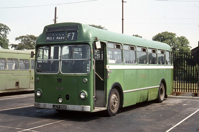 Crosville Motor Services . SUG 292 JCY998 . Rock Ferry Garage yard , Merseyside . Monday lunchtime 22nd-June-1970 .