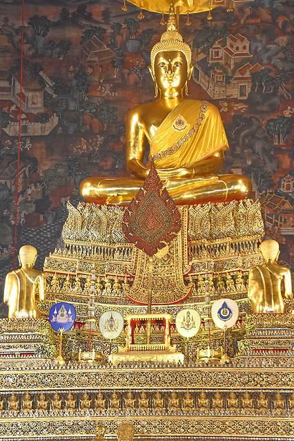 Statue of Buddha at Wat Pho, Bangkok, Thailand.