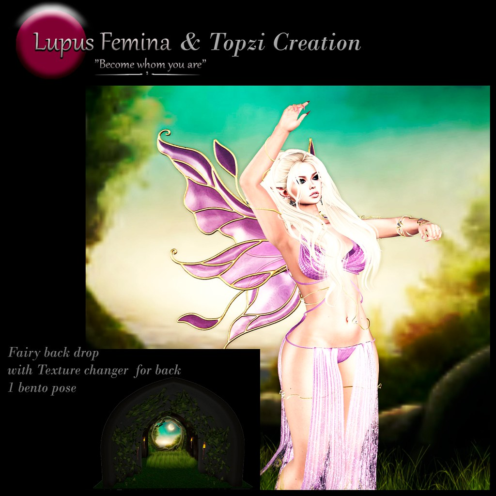 """LF & TC"" Fairy back drop with 1 Bento pose"
