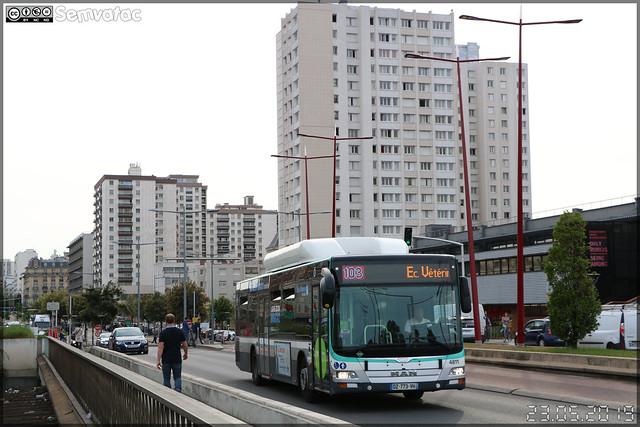 Man Lion's City CNG – RATP (Régie Autonome des Transports Parisiens) / Île de France Mobilités n°4811