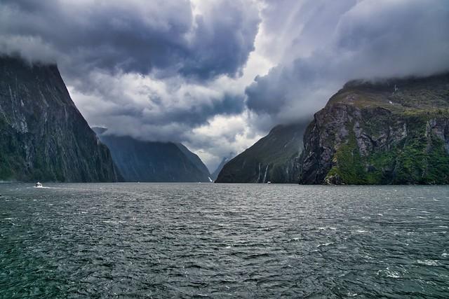 dramatic Milford Sound