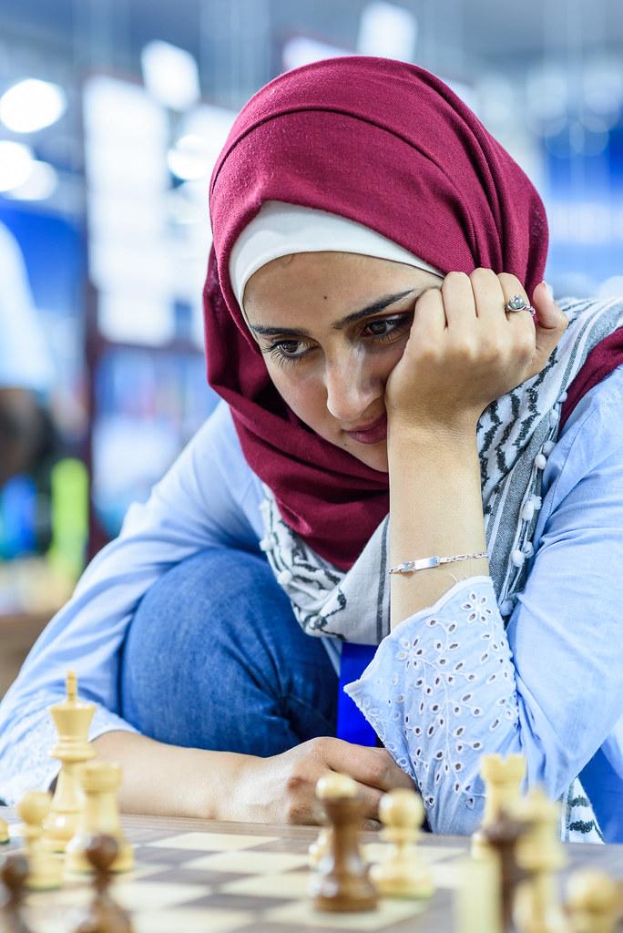 Heba Assi of Palestine at 43rd Women World Chess Olympiad 2018, Batumi, Georgia. (Photo by Alina L'Ami / FIDE via Flickr)