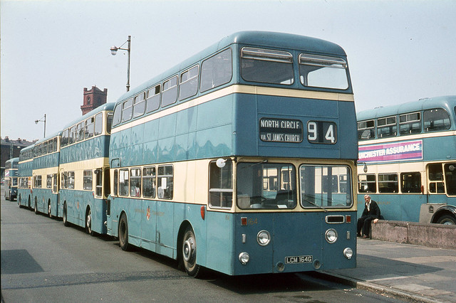 Birkenhead Transport . 164 LCM164G . Woodside Bus Station , Birkenhead . Saturday morning 22nd-June-1970 .