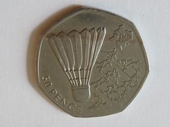 Olympic Badminton 50p Coin 2011