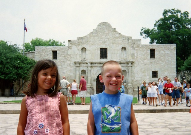 Two Little Texans at the Alamo