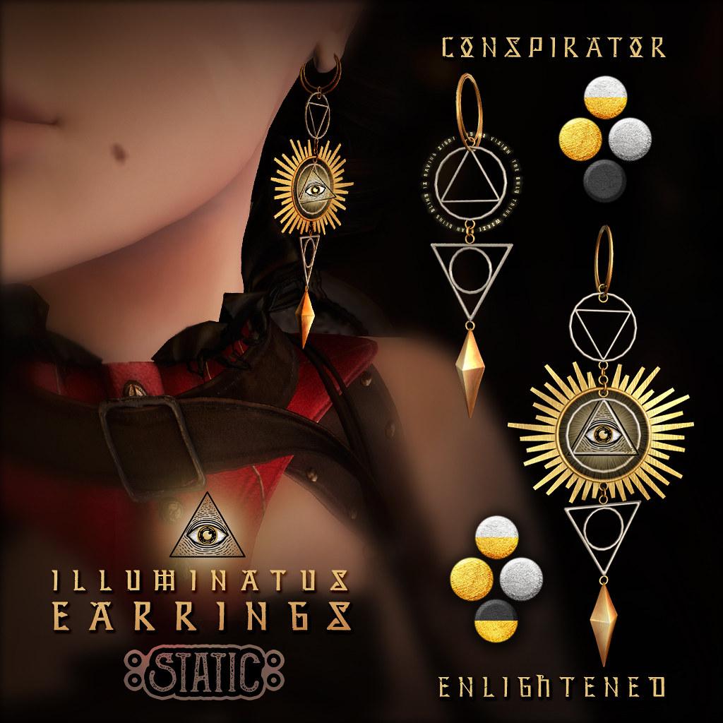 Illuminatus Earrings