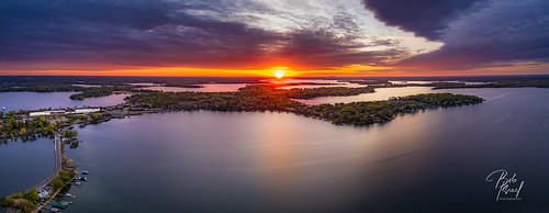 2020 dawn drone lake may minnetonka sunrise mound minnesota unitedstatesofamerica