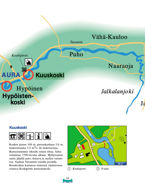 Map Aura river