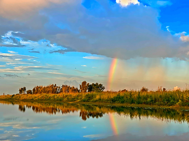 Rainbow over 196th Ave Canal 20200522