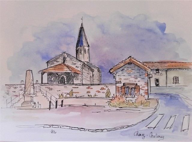 Chanoz Chatenay-église-mairie