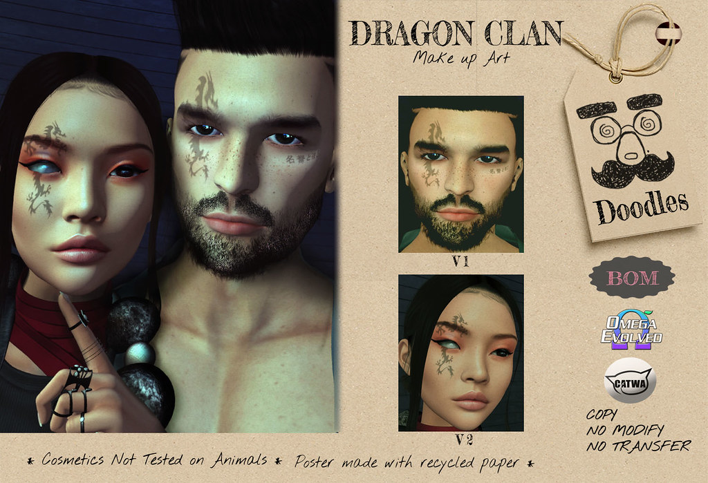 Dragon Clan face paint