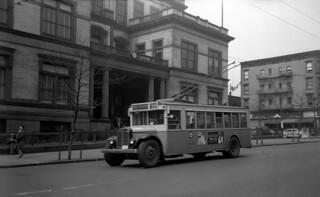 US NJ Hoboken PSNJ Trolleybus 9821 Rt xx-Passaic, Hoboken City Hall-Washington Street