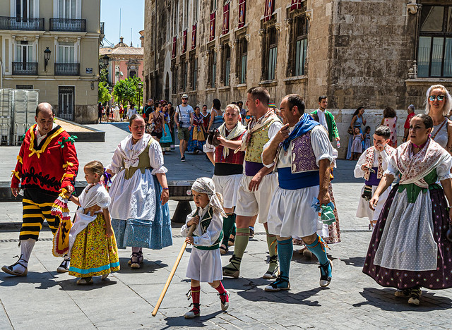 The Corpus Christi Parade - Valencia has finished (Olympus OM-D EM1.2 & M.Zuiko 25mm f1.2 Pro Prime) (1 of 1)