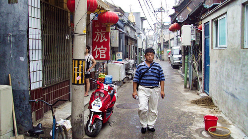 China, Beijing - Daily routine in an old quarter - July 2010