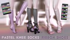 HARO Pastel Knee Socks & Ribbon Shoes