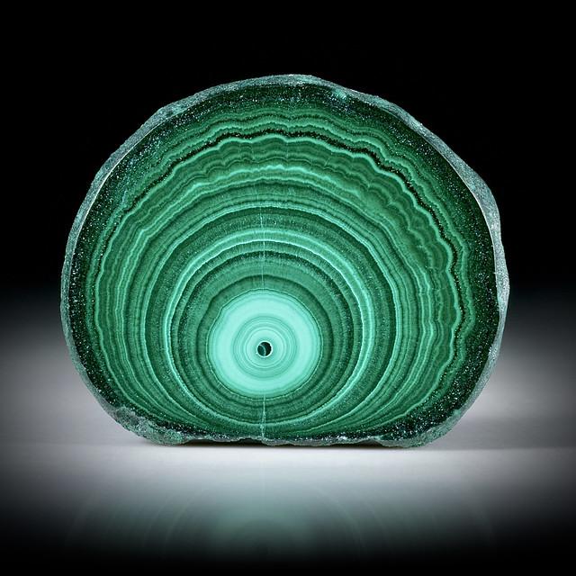 Malachit Querschnitt poliert, ca.34x28x5mm