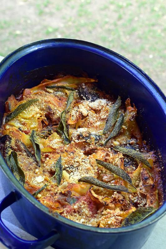 Lasagne aux aubergines et sauge