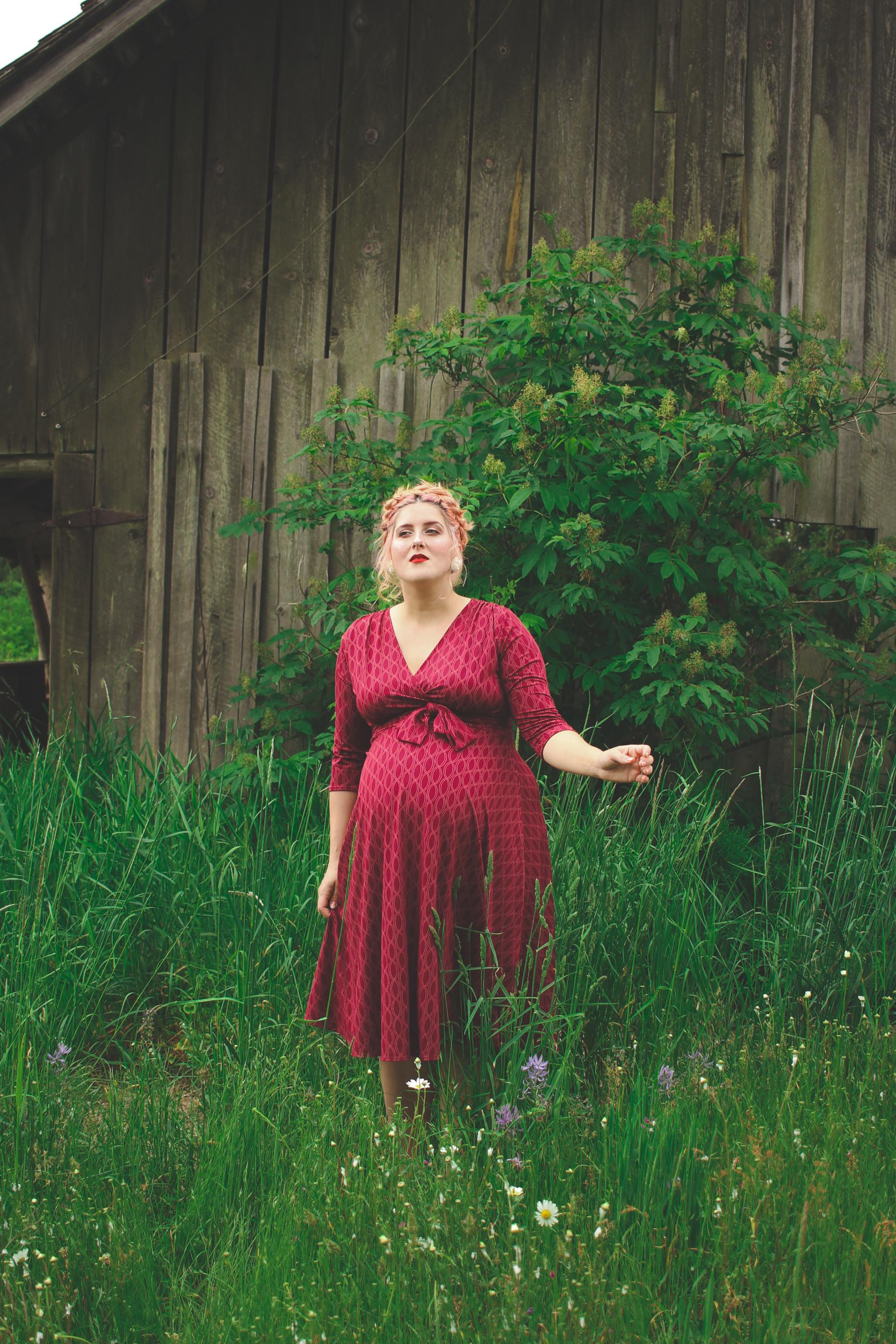 Karina Dresses Margaret dress in Wine