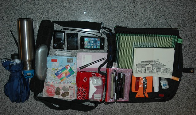 Sketching Travel Bag and Contents