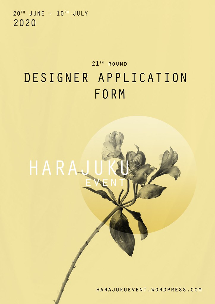 Harajuku 原宿 Event – 21th Round DESIGNERS APPLICATION FORM