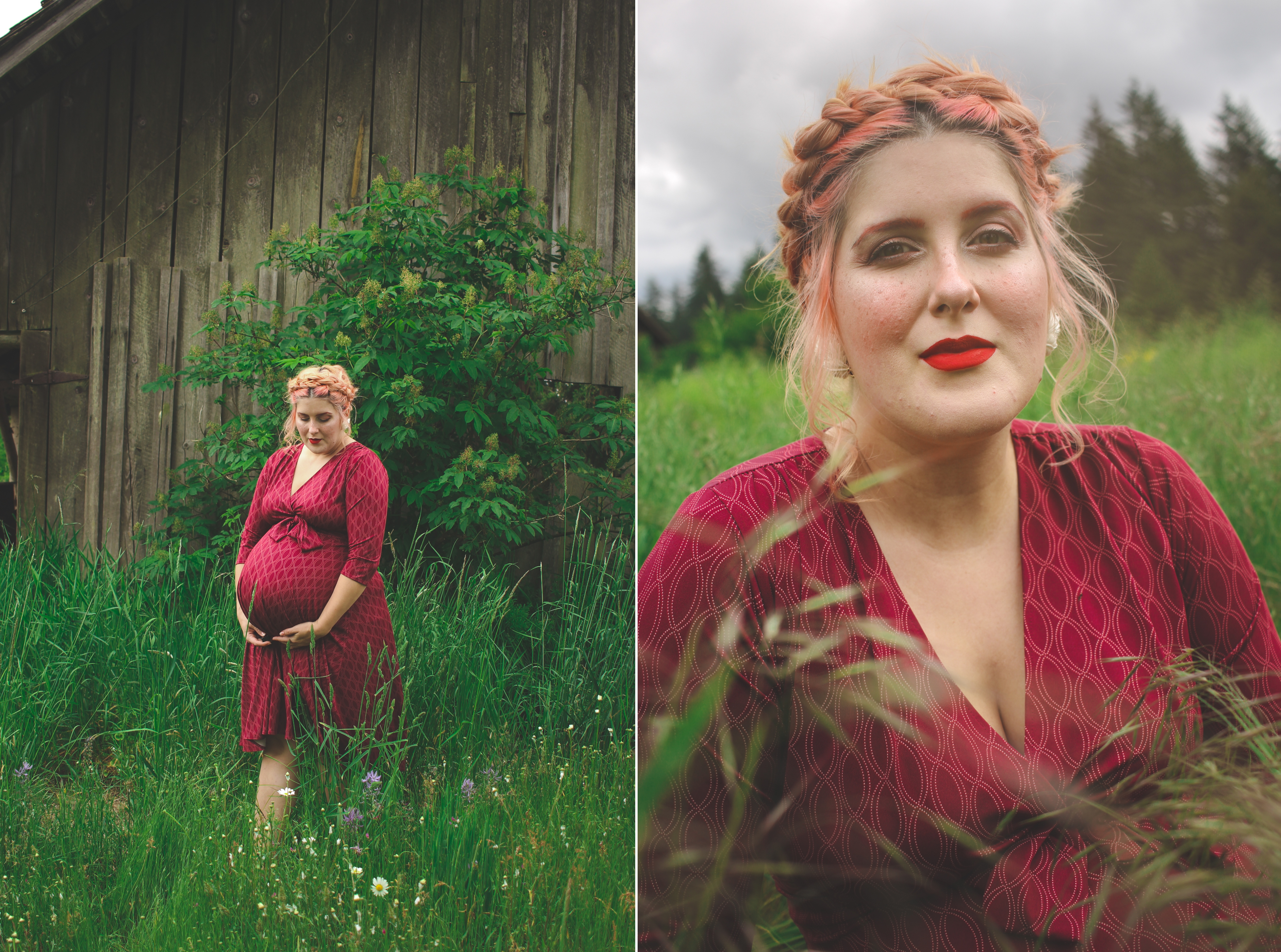 relaxed nature maternity photos