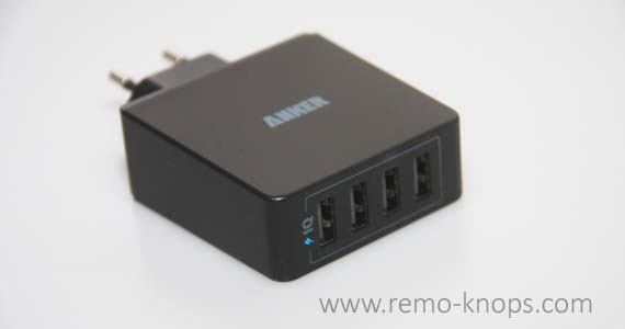 Anker Quad Port Wall Charger 36W with Power IQ 8467