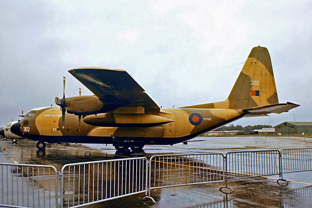 XV302    Lockheed C-130K Hercules C.1 [4270] (Royal Air Force) RAF Greenham Common~G 23/06/1979