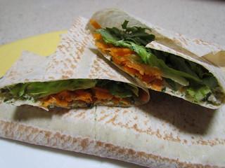 Tofu-Tahini Veggie Wraps