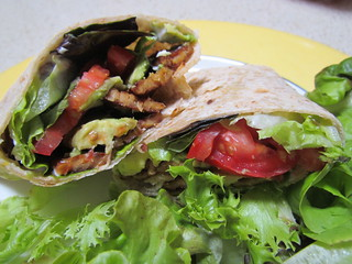 Avocado and Tempeh Bacon Wraps