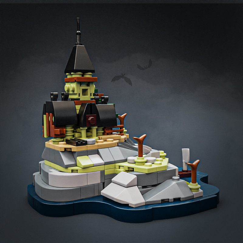 Microscale Haunted Mansion