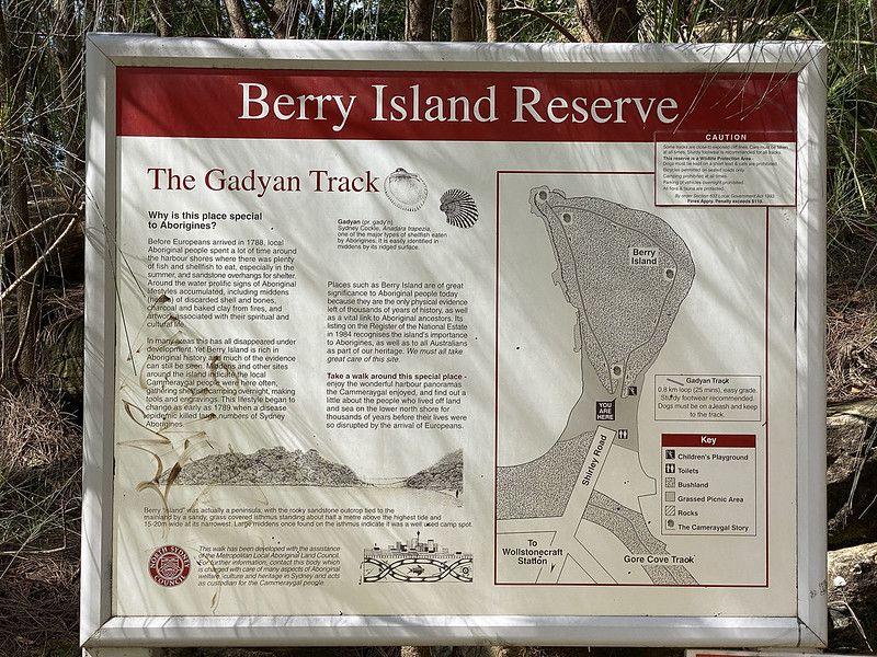Berry Island Reserve sign