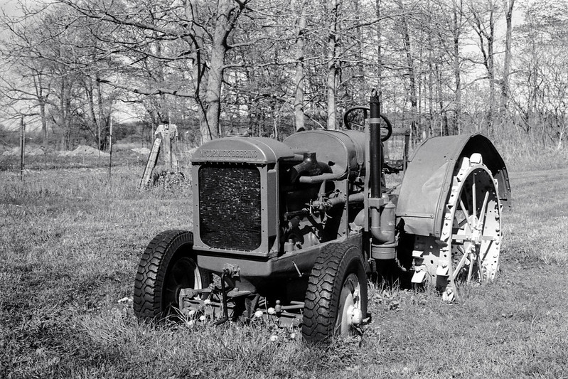 Vintage Tractor in the Field_