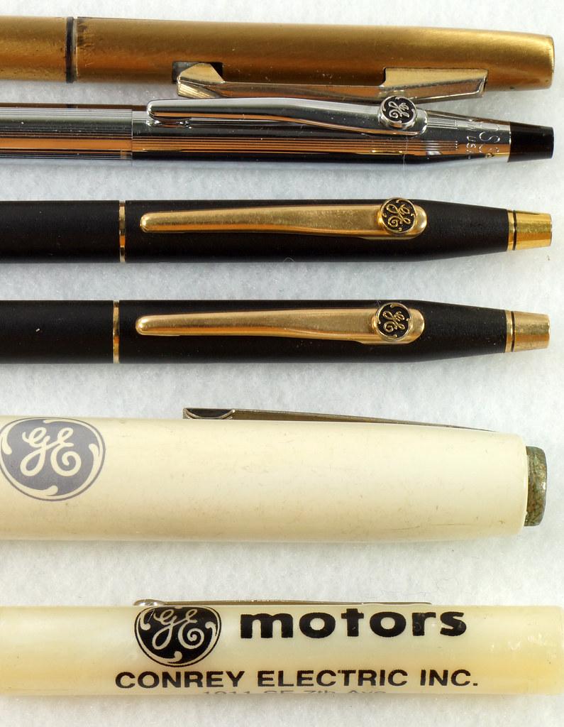 RD21486 Vintage Advertising General Electric GE Cross Ink Pens, Screwdriver & Flashlight DSC05394