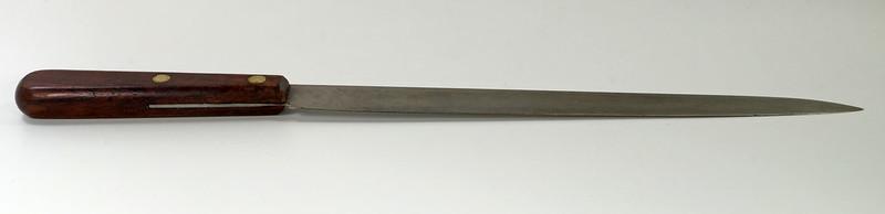 RD28322 Rare Antique Dexter Carbon Steel Slicing Knife 44910HG Long 10 inch Blade DSC05480
