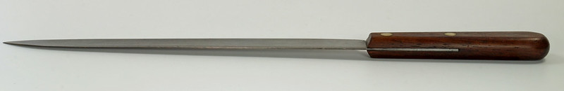 RD28322 Rare Antique Dexter Carbon Steel Slicing Knife 44910HG Long 10 inch Blade DSC05479