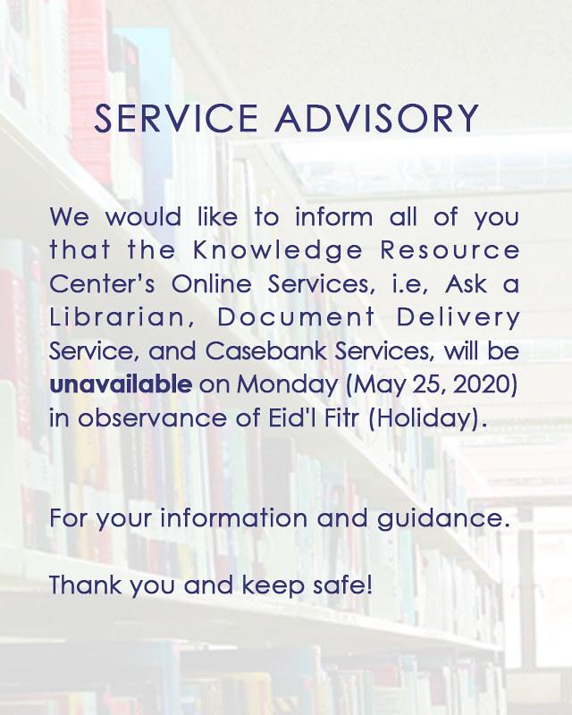 Service advisory (6)