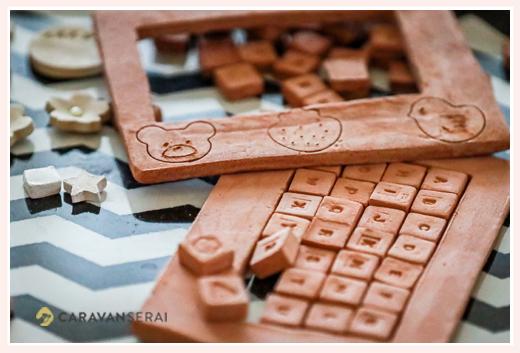 オーブン陶芸 作品例 パズル