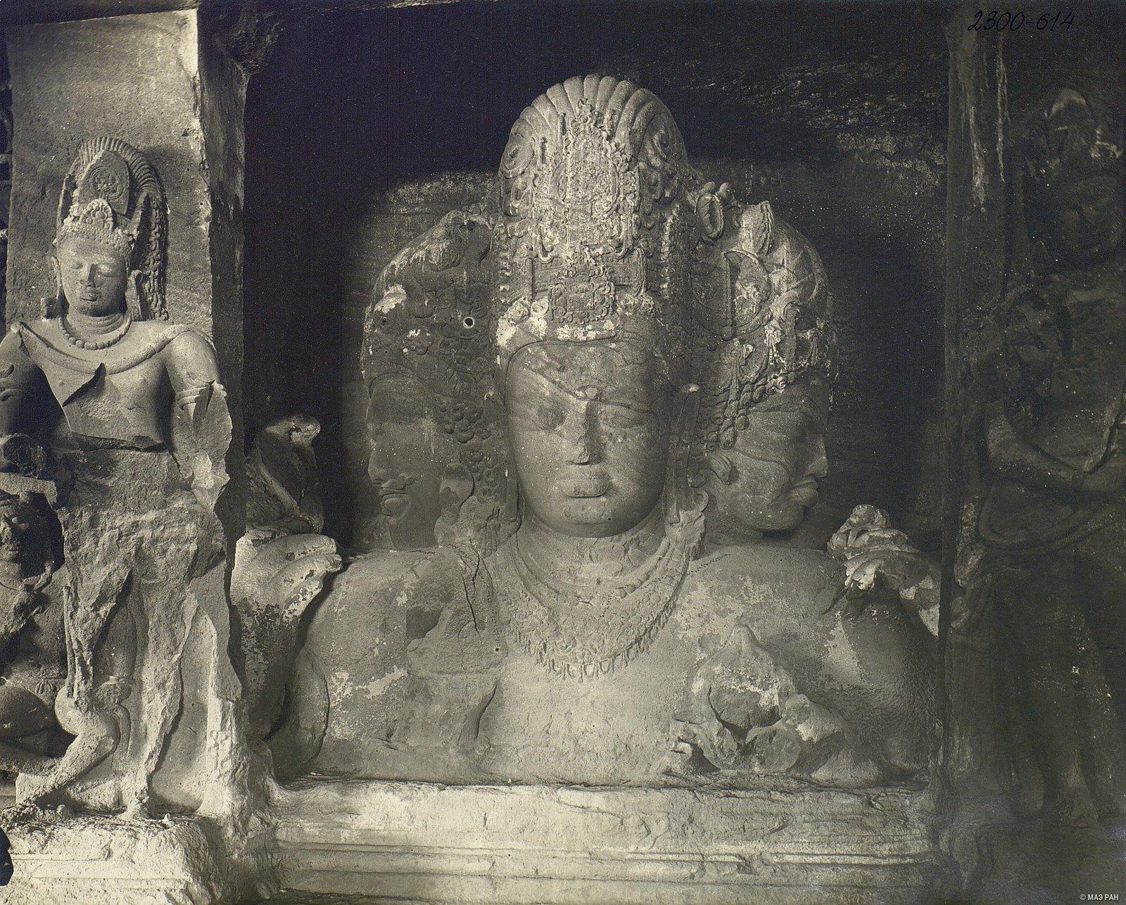 Пещерный храм в Элефанте (скульптурное изображение Тримурти) (6)