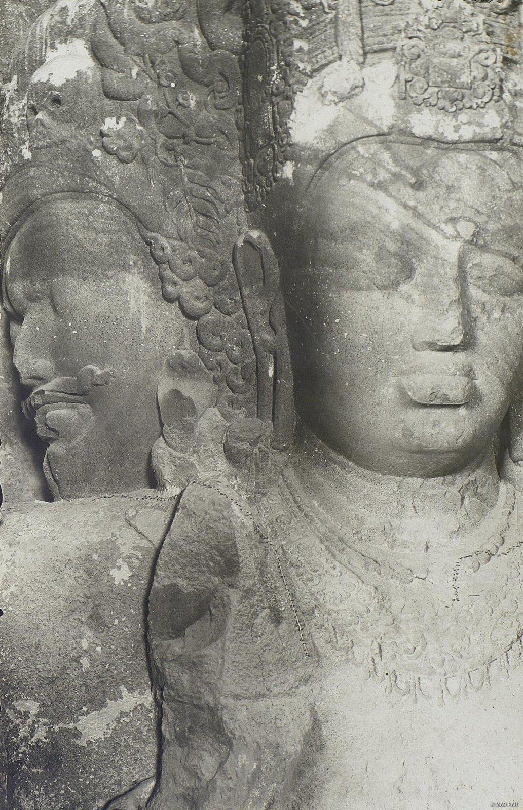 Пещерный храм в Элефанте (деталь скульптурного изображения Тримурти) (6)