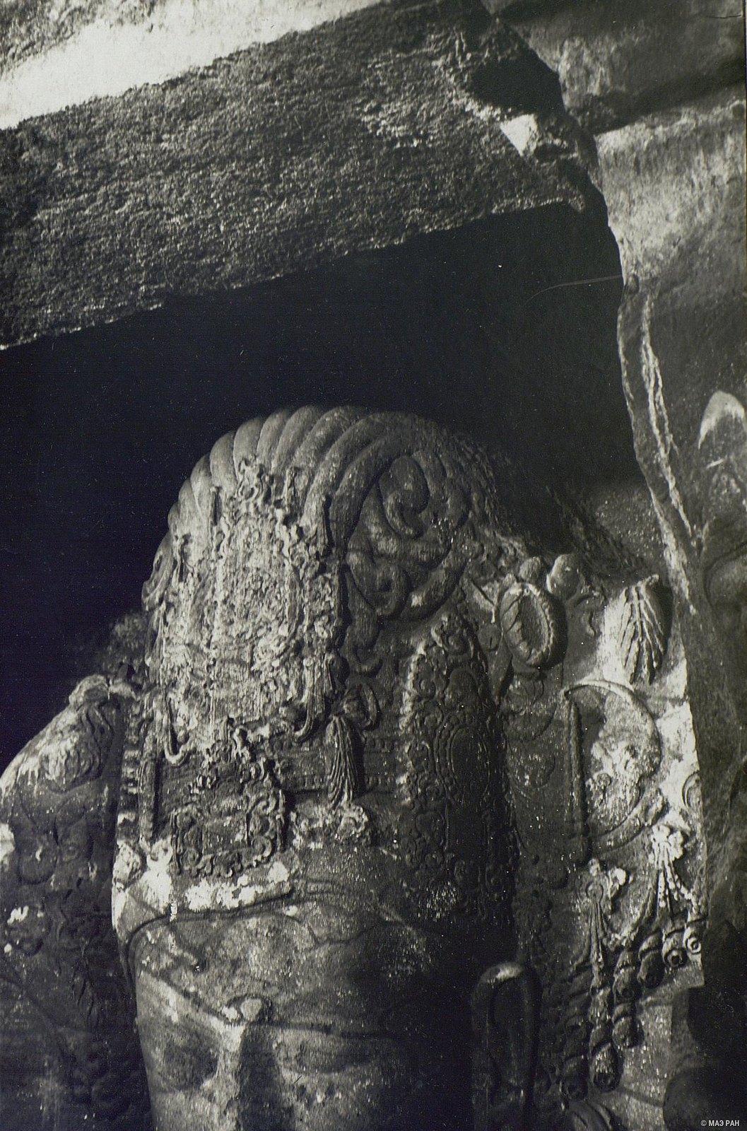 Пещерный храм в Элефанте (деталь скульптурного изображения Тримурти) (1)
