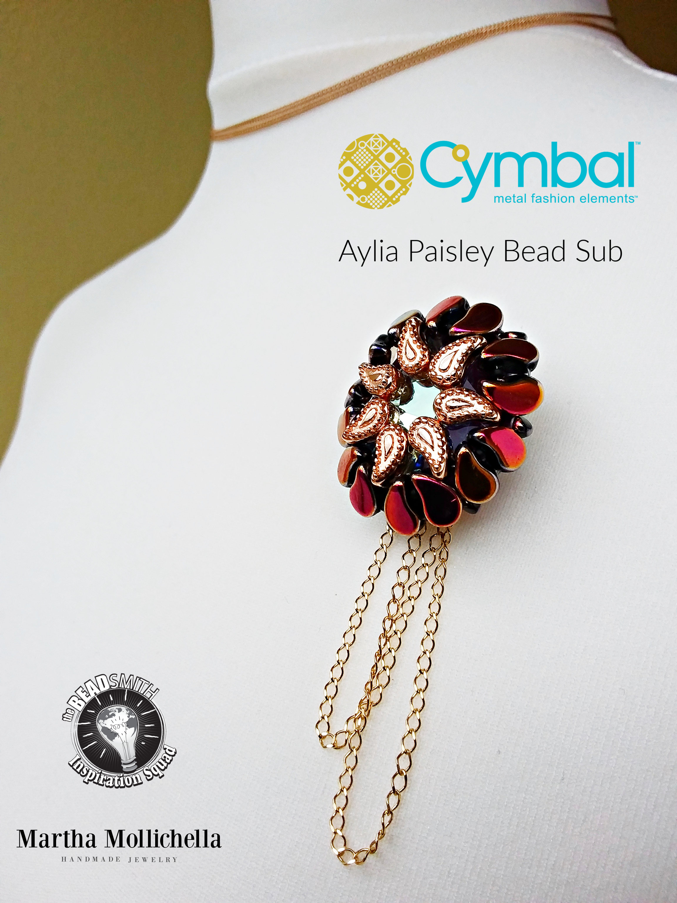 Cymbal elements Aylia The Beadsmith handmade by Martha Mollichella