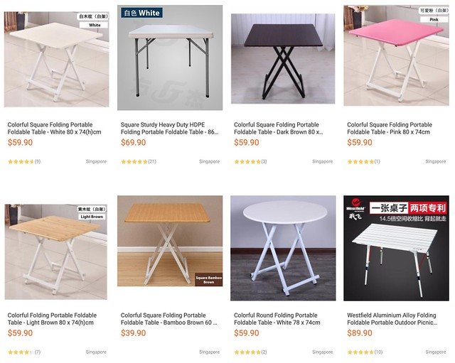lazada foldable tables