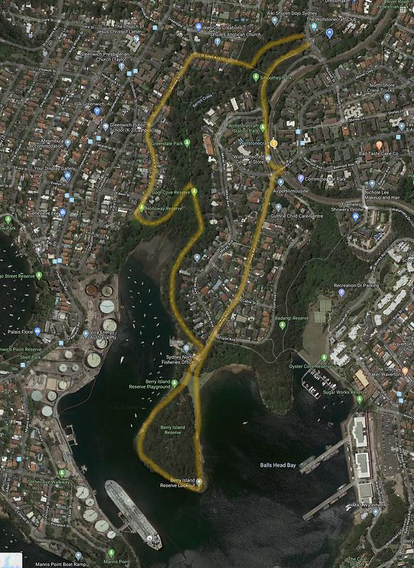 Berry Island walk map
