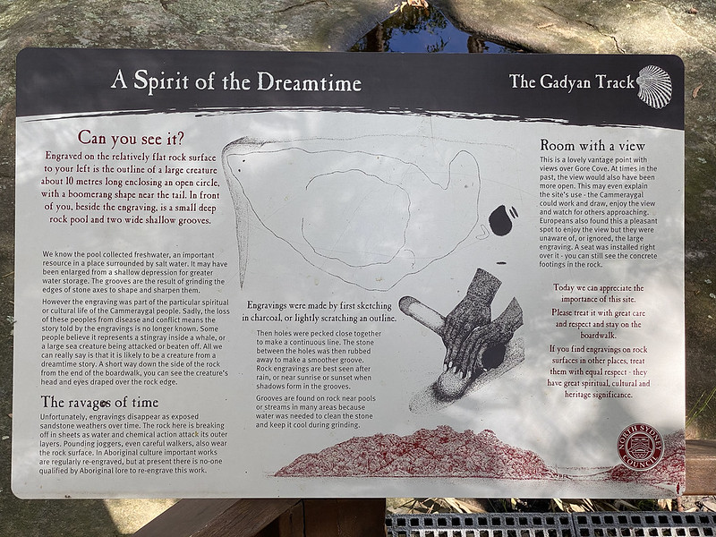 Cammeraygal site sign