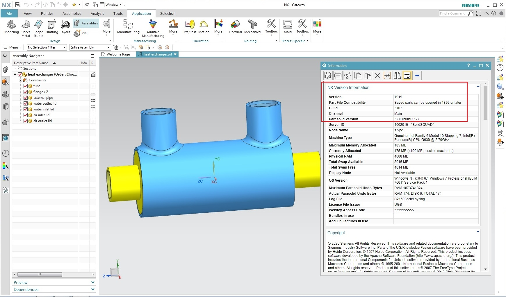 Working with Siemens NX 1919 Build 3102 (NX 1899 Series) full license