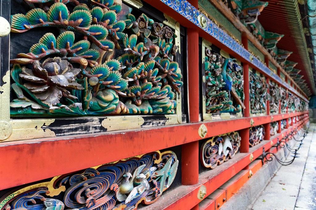 東西廻廊 極彩色の大彫刻 日光東照宮