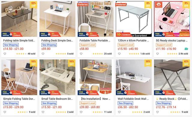 shopee foldable tables